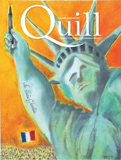 Cover of Quill Magazine, journal of the Society of Professional Journalists, in the aftermath of the January Charlie Hebdo murders
