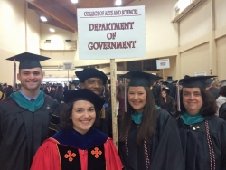 Drs. Anne Cizmar and Randall Swain with the new MPA Graduates