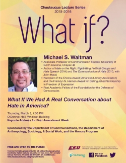 The Keynote Address for First Amendment Week 2016 was given by Michael Waltman