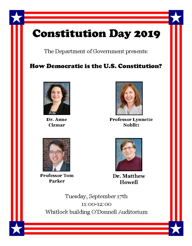 Constitution Day 2019 Flyer