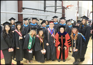 Public Administration students at graduation